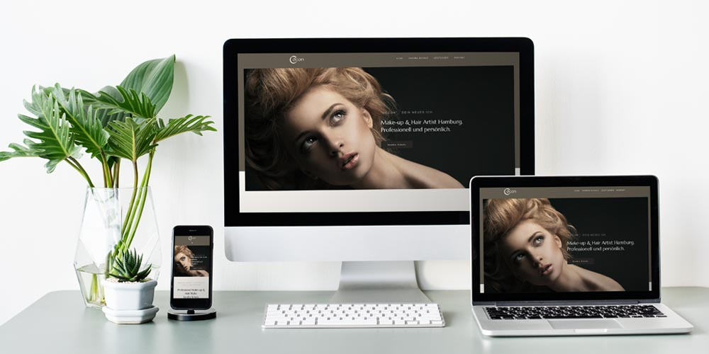 Webdesign Cocon Make-up