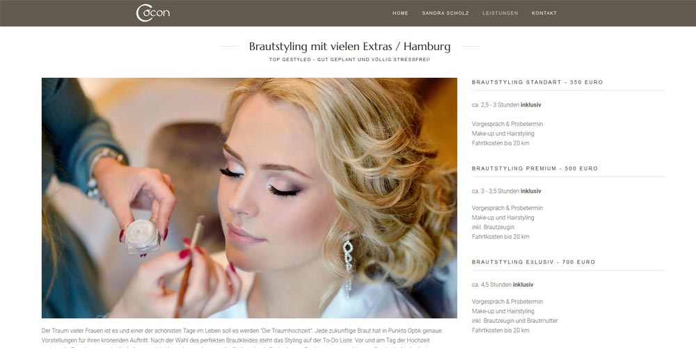 Hamburg Braut Make-up